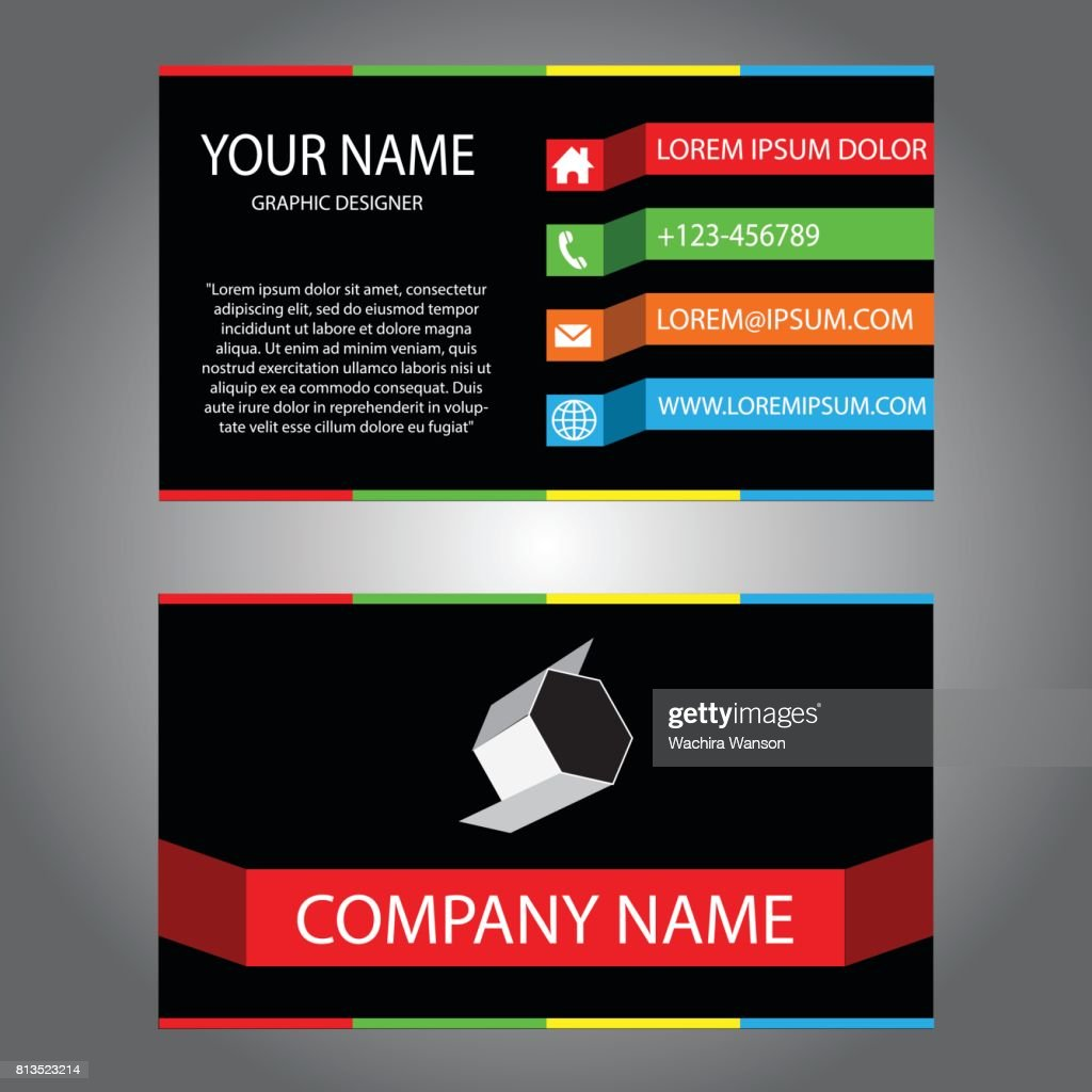 Black red green blue business card vector art getty images black red green blue business card vector art reheart Image collections