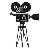 black retro camera