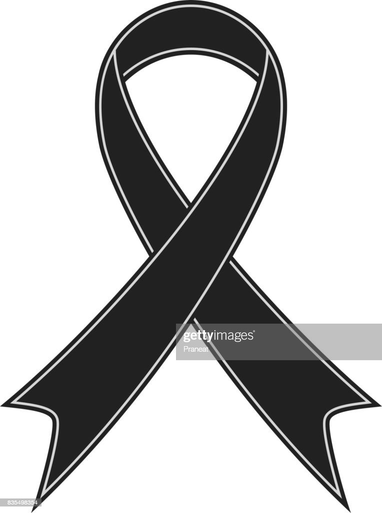 Black ribbon illustration vector