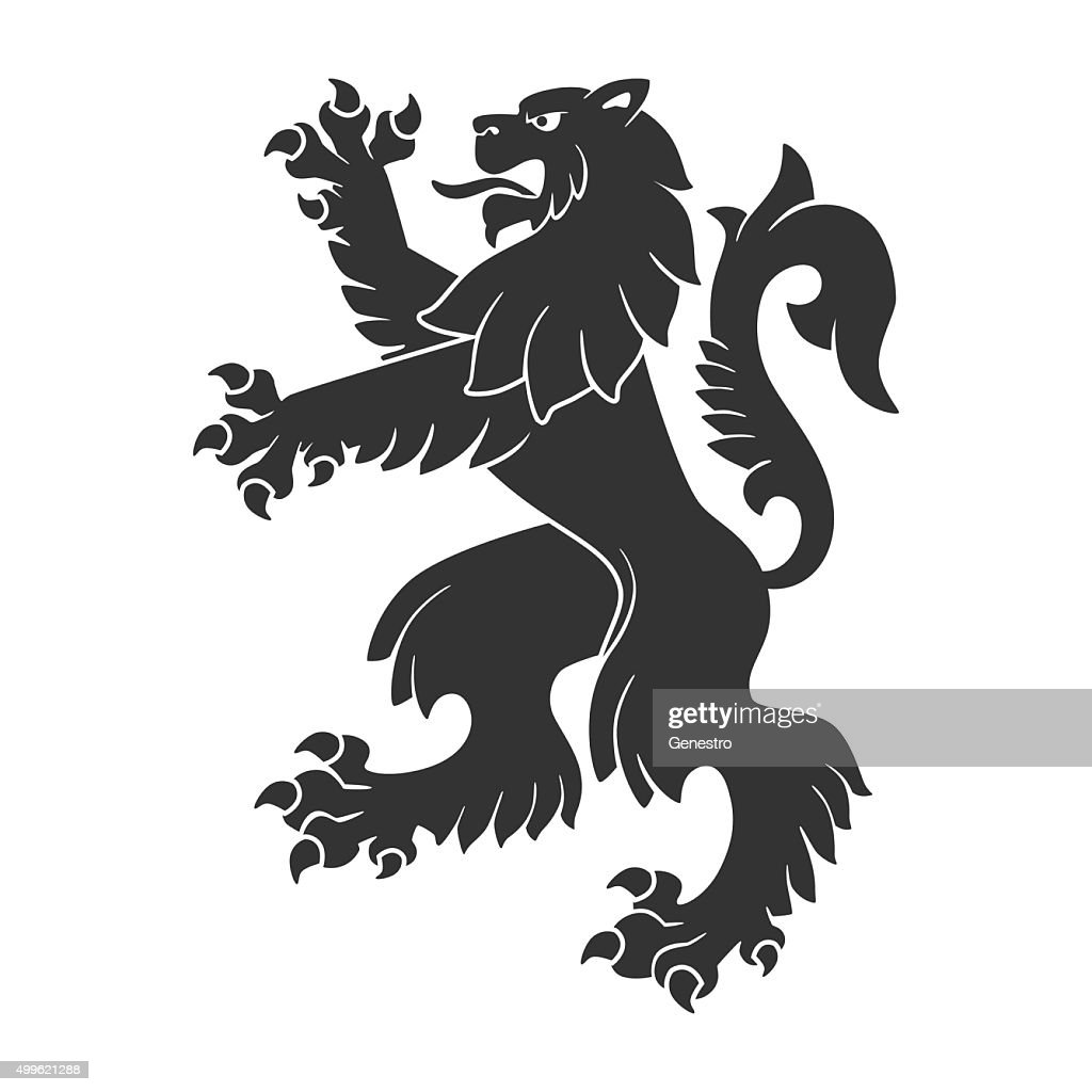 Black Roaring Lion