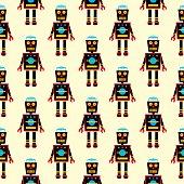 Black Robot Pattern