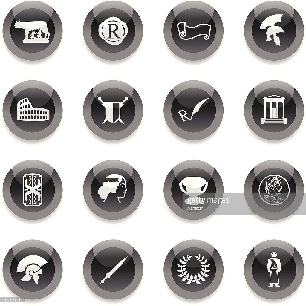 Black Round Icons -  Roman Empire