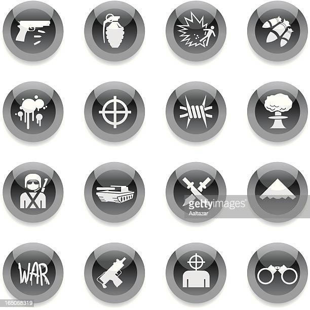 Black Round Icons - War