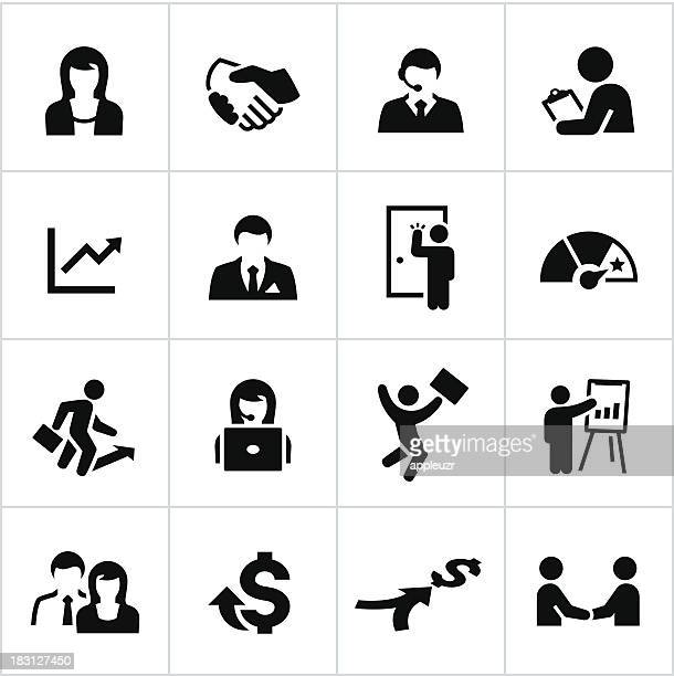 Black Sales Occupation Icons