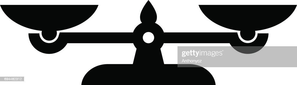 Black scale vector icon