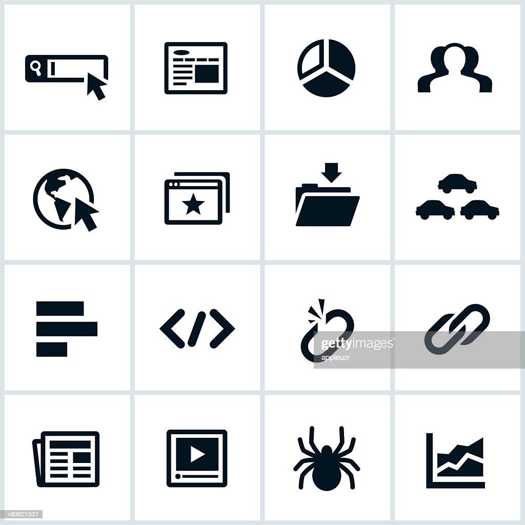 Black SEO Icons