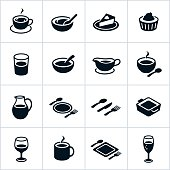 Black Serving Dishes Icons