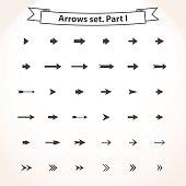 Black set arrows