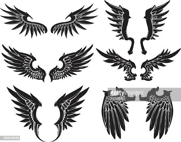 black set of wings