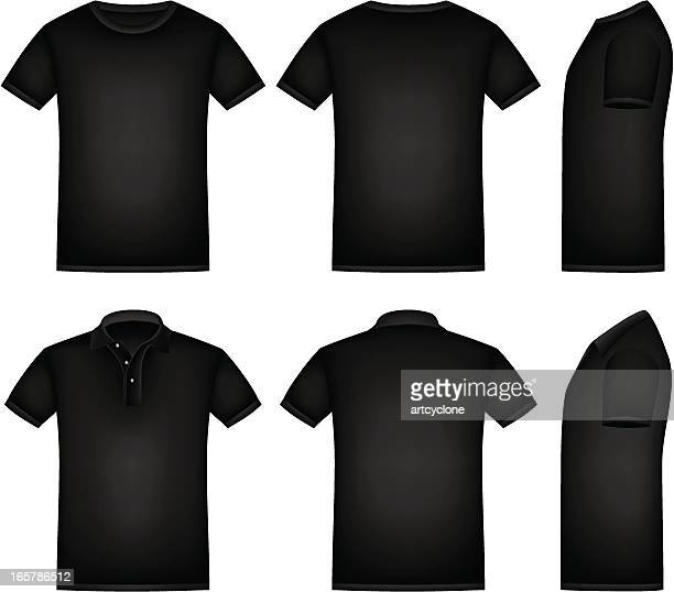 stockillustraties, clipart, cartoons en iconen met black shirt - zwart shirt