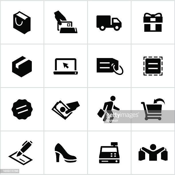 Black Shopping Icons