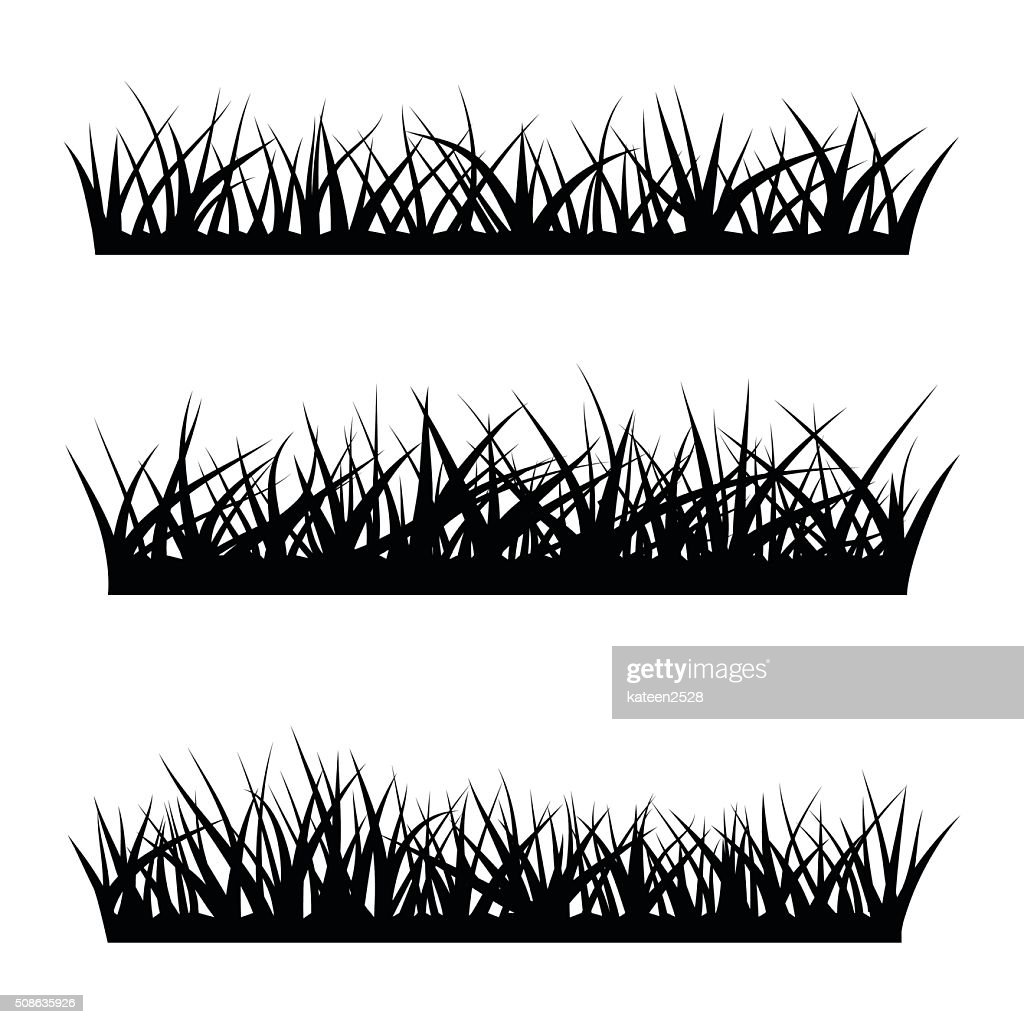 black silhouette of grass high res vector graphic getty images 2
