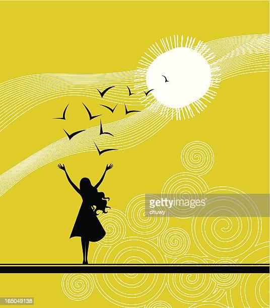 ilustraciones, imágenes clip art, dibujos animados e iconos de stock de sunrise - chuwy