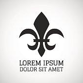 Black silhouetted of Fleur-de-lis symbol