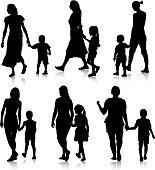 Black silhouettes Family