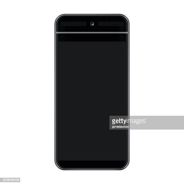 hd black smartphone - android stock illustrations