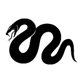 Black snake sign.