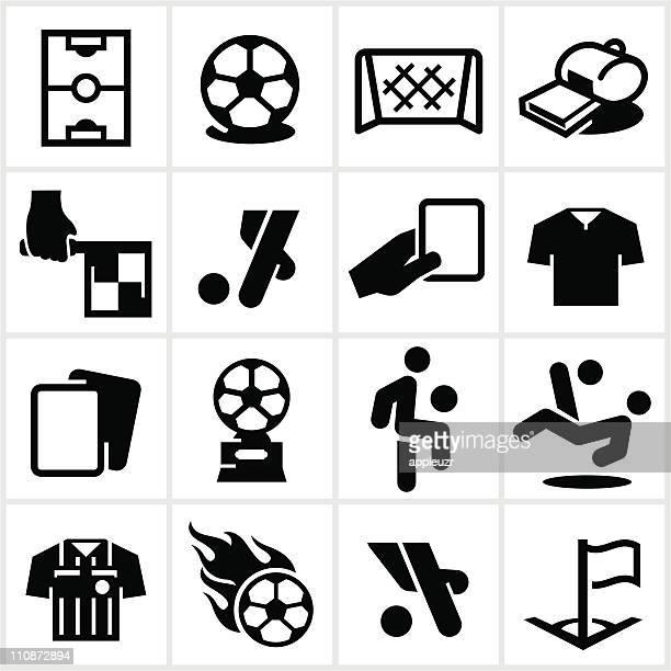 Black Soccer Icons