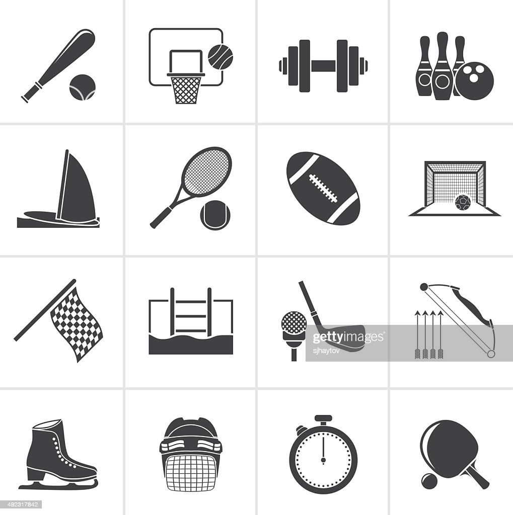 Black Sport objects icons