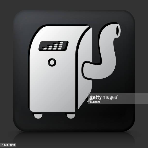 black square button with air conditioner - humidifier stock illustrations