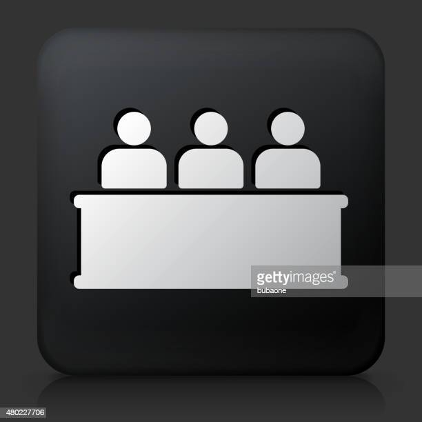 Black Square Button with Audience Icon