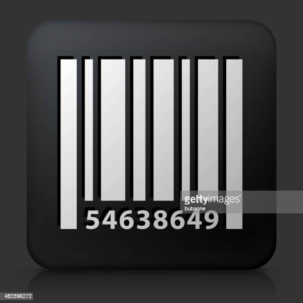 Black Square Button with Barcode Icon