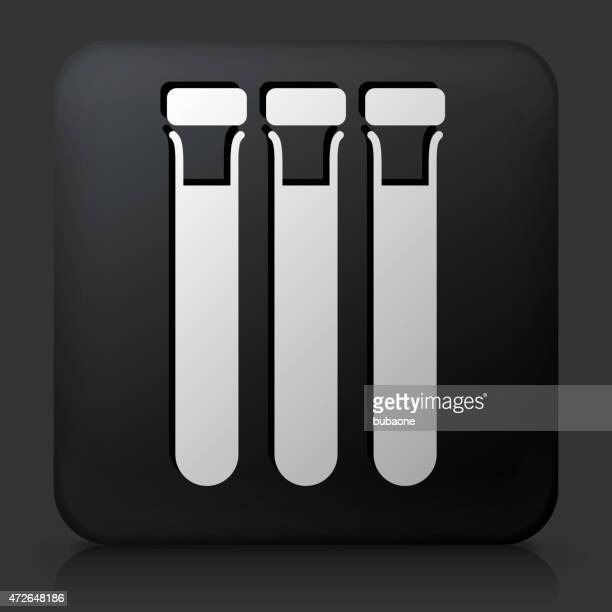 black square button with blood donation tubes - blood test stock illustrations, clip art, cartoons, & icons