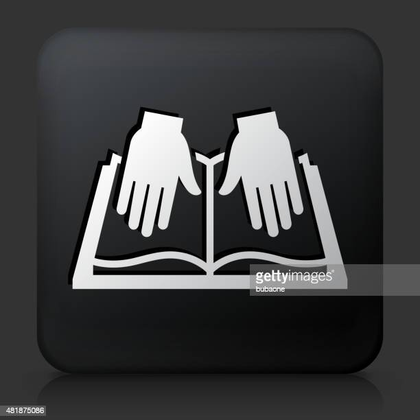 black square button with braille open book - braille stock illustrations, clip art, cartoons, & icons