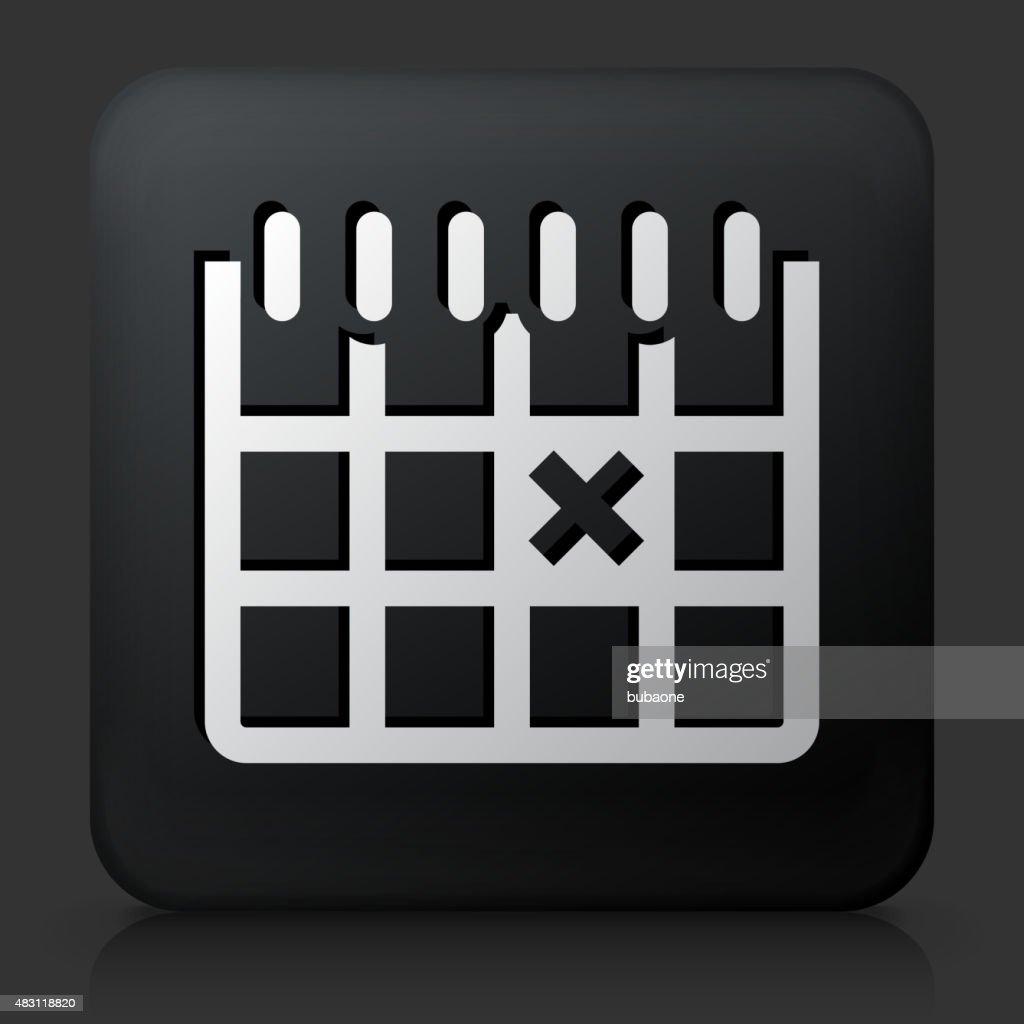 Black Square Button with Calendar