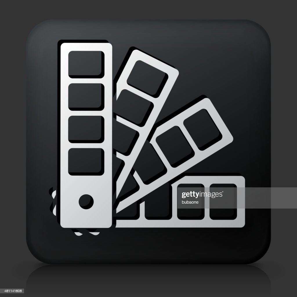 Black Square Button With Color Wheel Icon Vector Art Getty Images