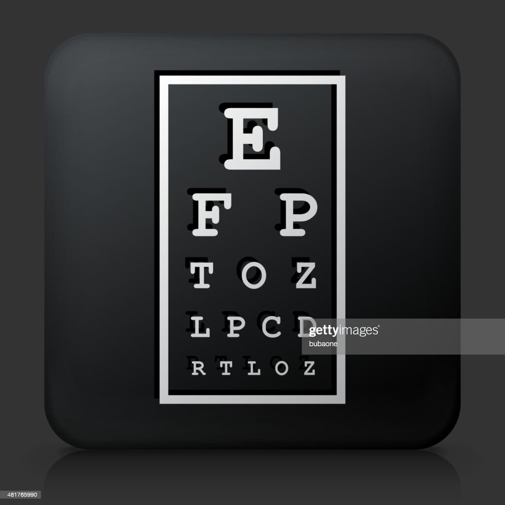 Black Square Button With Eye Chart Vector Art Getty Images