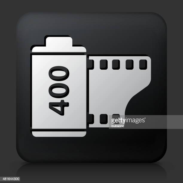 Black Square Button with Film Roll