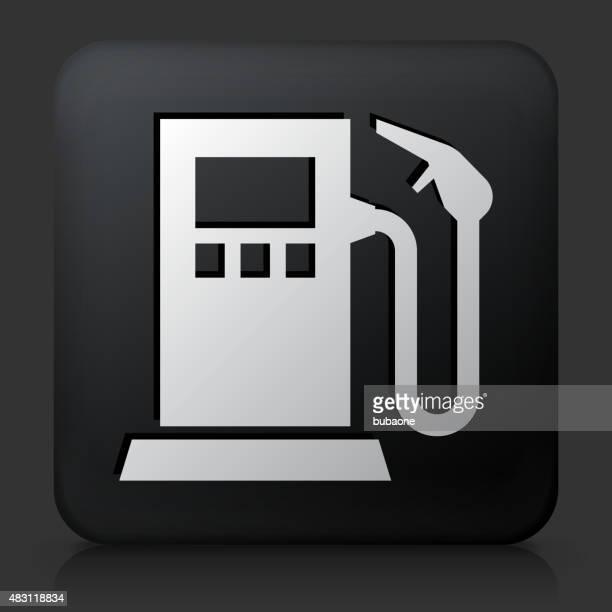 Botão quadrado preto com bomba de gás