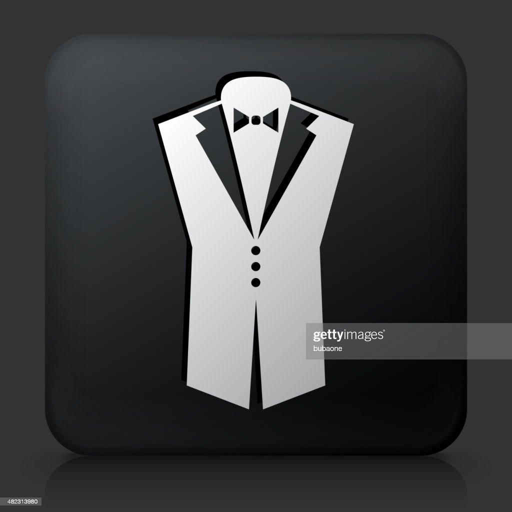 Black square button with groom suit icon vector art getty images black square button with groom suit icon vector art publicscrutiny Gallery