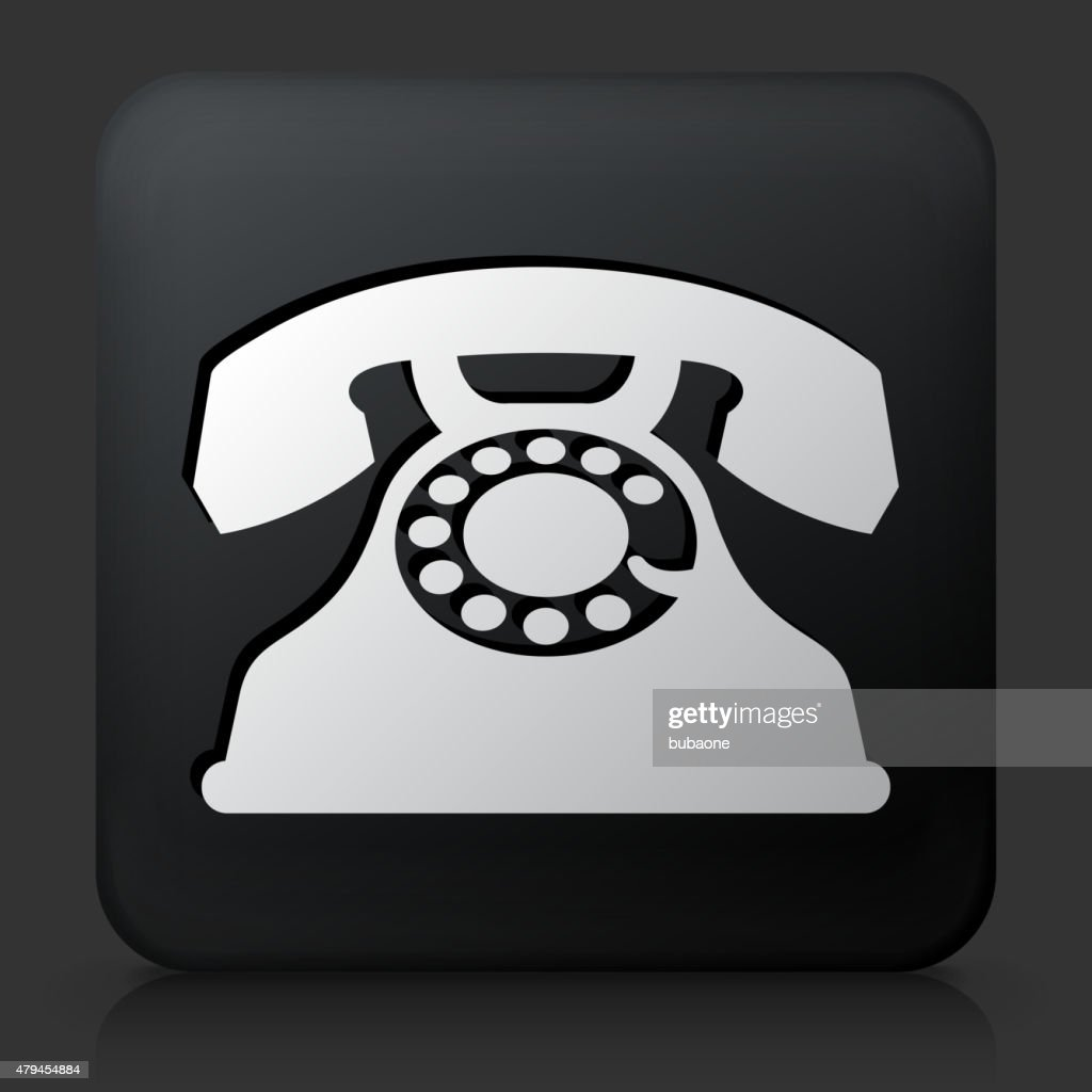 Black Square Button With Home Phone Icon Vector Art Getty Images