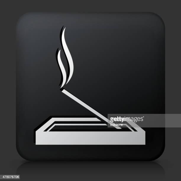 black square button with incense - aromatherapy stock illustrations, clip art, cartoons, & icons