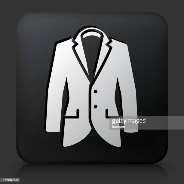 Veste carrée bouton avec l'icône de