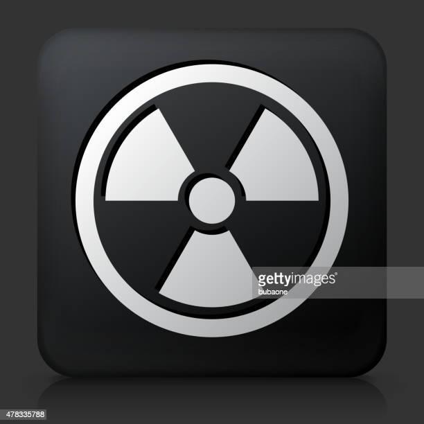 Black Square Button with Nuclear Symbol