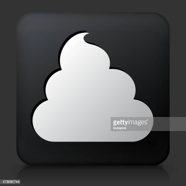 Black Square Button with Shaving Cream Icon