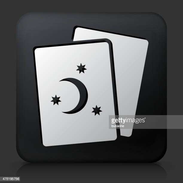 black square button with torat cards - tarot cards stock illustrations, clip art, cartoons, & icons
