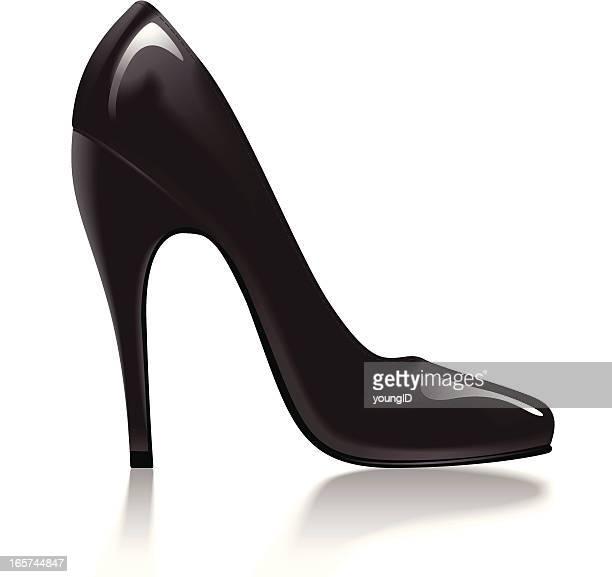 black stiletto - pump dress shoe stock illustrations
