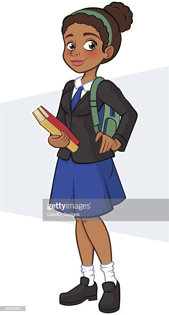 Black Student - Holding Books