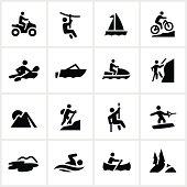 Black Summer Adventure Icons