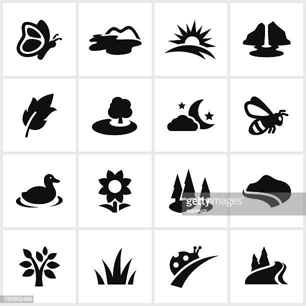 black summertime icons - duck bird stock illustrations, clip art, cartoons, & icons