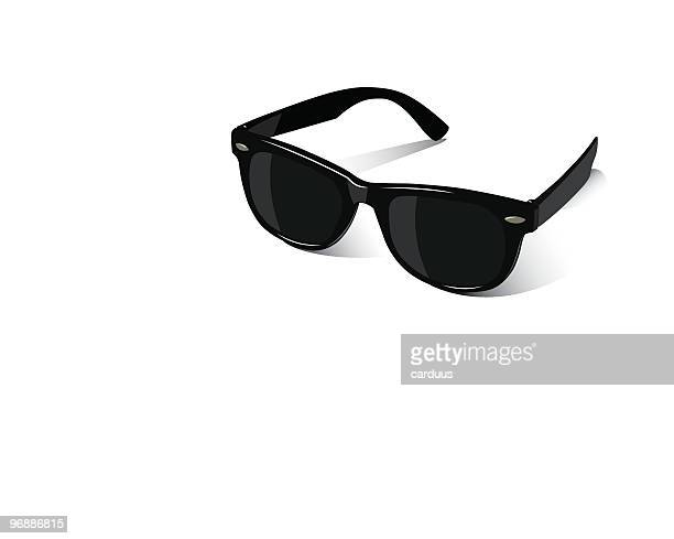 black sunglasses on a white background - sunglasses stock illustrations