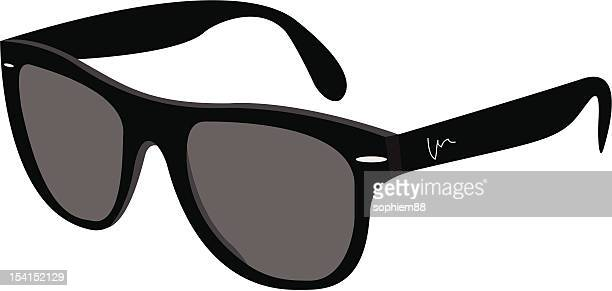 black sunglasses - sunglasses stock illustrations