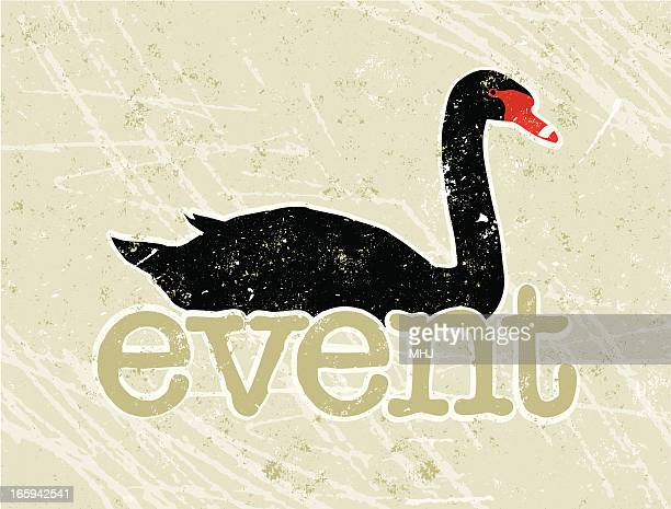 ブラック・スワンイベントのテキスト - コクチョウ点のイラスト素材/クリップアート素材/マンガ素材/アイコン素材