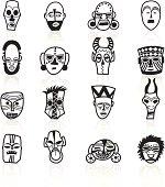 Black Symbols - African Masks
