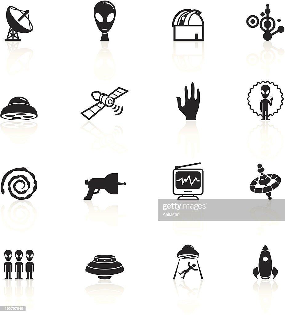 Black Symbols Alien Contact Vector Art Getty Images