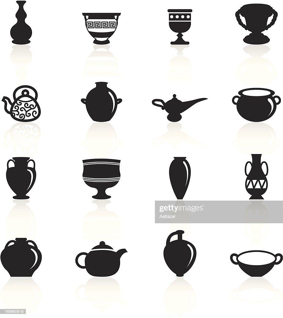 Black Symbols - Ancient Pottery